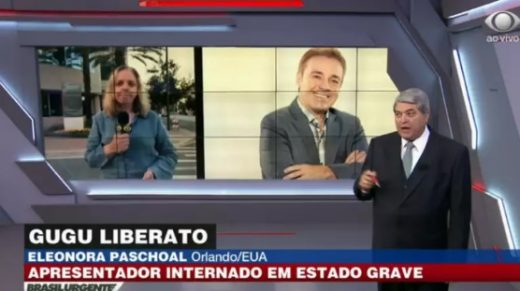 Comovida, repórter chora ao dar informações sobre saúde do apresentador GUGU