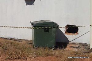 Ladrões arrombam e roubam Agencia do Sicoob em Tarilândia nesta madrugada em Jaru