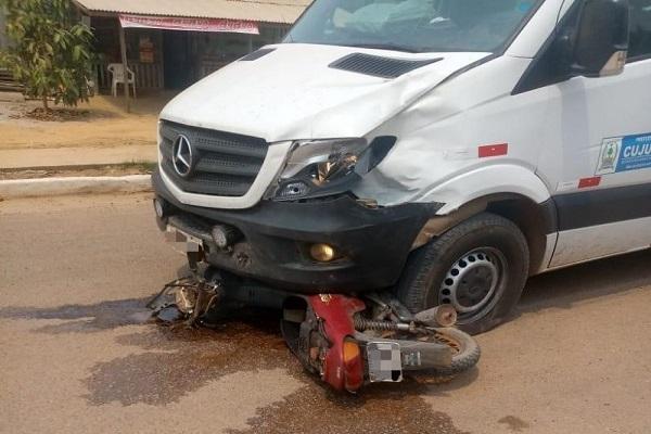 www.rondonianews.com motociclista morre em acidente envolvendo ambulancia da prefeitura em cujubim tim 1 - Motociclista morre em acidente envolvendo ambulância em Cujubim