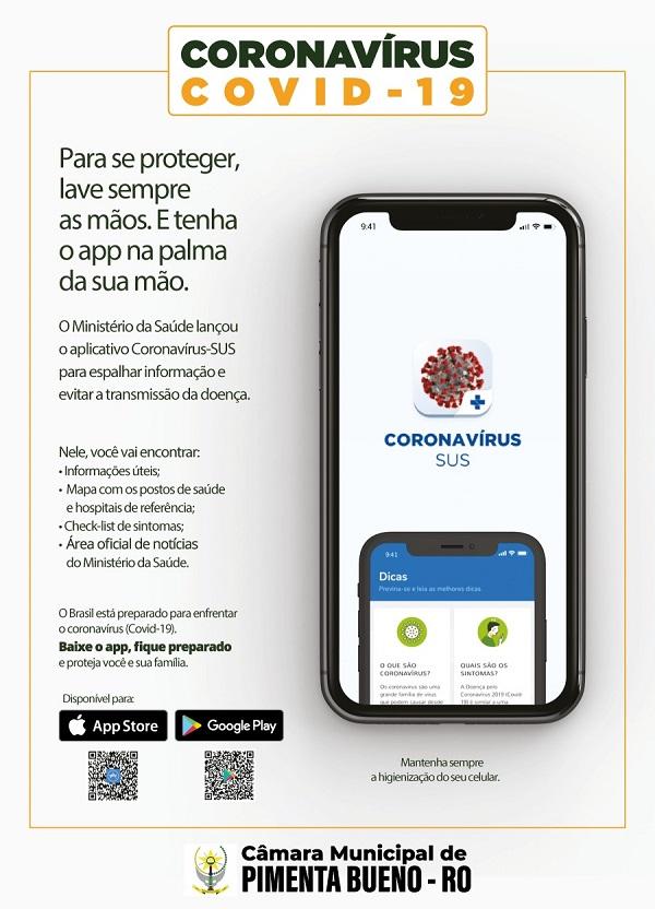 Câmara Municipal de Pimenta Bueno incentiva campanha contra o COVID19