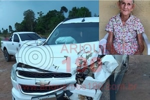 Idosa morre após grave colisão entre caminhonetes na BR-421