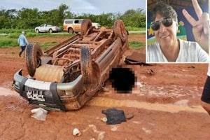 Homem morre após ser arremessado de camionete que capotou na BR-364