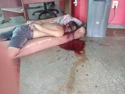 Membros de facção invadem delegacia e executam rival com tiros na cabeça - IMAGENS FORTES