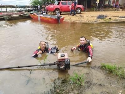 Bombeiros encontram corpo de sitiante desaparecido no rio Mamoré em Rondônia