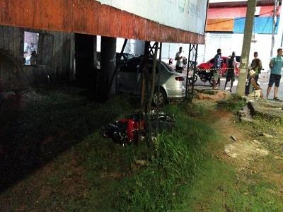 Casal de namorados morre durante acidente de moto; imagens fortes
