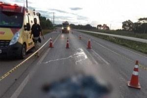 Ciclista morre atropelado por carro na BR-364 em MT-min