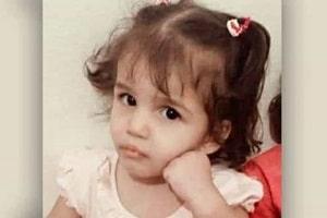 Menina de três anos é espancada e morre após o pai obrigá-la a sentar em água fervendo