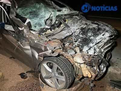 Três adultos, uma criança e um bebê ficam feridos em acidente na BR-364