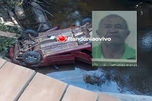 Idoso morre ao capotar carro e cair em rio após dar carona à índios em Porto Velho