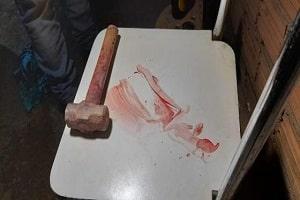 Marido espanca mulher a marretadas e tenta enterrá-la no quintal de casa na frente dos filhos