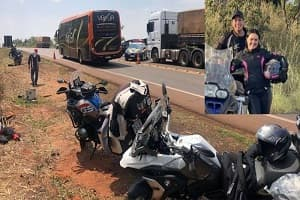 Ex-prefeito de MT e esposa morrem em acidente durante viagem com grupo de motoqueiros